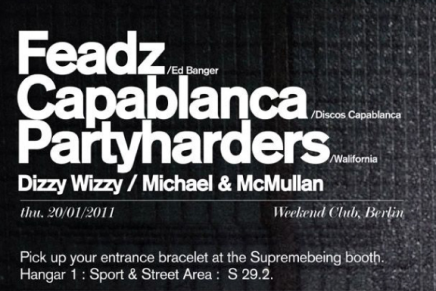 ICC Distribution & proud proudly present A SUPREMEBEING PARTY @ WEEKEND 20.01.2010