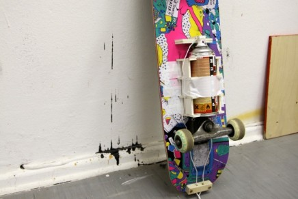 Skate/Paint Device by Dave the Chimp