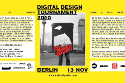Cut & Paste Digital Design Tournament 2010